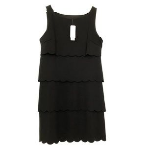 Philosophy Scalloped Layers Sleeveless Black Dress
